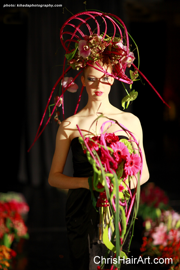 Hair Show Vancouver   neoflora flower fashion show